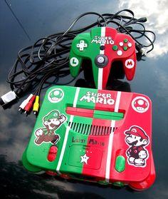 Mario Brothers Custom Nintendo 64 Console by mbtaylorproductions.deviantart.com on @deviantART