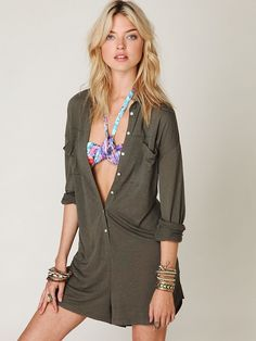 Free People Romper Stomper, $88.00    *cries a million tears*  why is this not 100% linen???