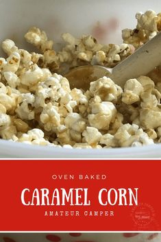 Classic Oven Baked Caramel Corn is a simple recipe to make and enjoy. Make your own caramel popcorn that will taste better than store bought. Camping Snacks, Easy Snacks, Easy Meals, Winter Snacks, Super Bowl, New Years Eve Snacks, Caramel Corn Recipes, Best Popcorn, Snack Recipes