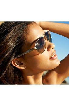 a2e58c2a46 Gucci Metal 58mm Aviator Sunglasses Gucci Sunglasses