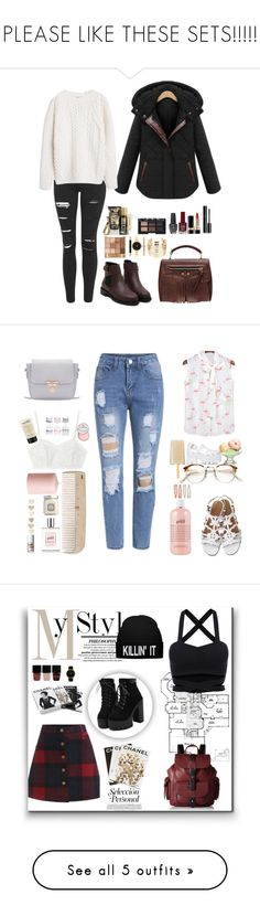 """""""PLEASE LIKE THESE SETS!!!!!"""" by socks666 ❤ liked on Polyvore featuring Topshop, MANGO, Chanel, Dolce&Gabbana, NARS Cosmetics, OPI, Style & Co., WithChic, women's clothing and women's fashion"""