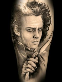 I love horror themed tattoos. And Sweeney todd is one of my favorite legends.