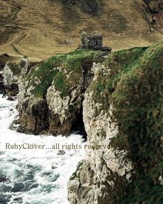 Kenbane Castle Co. Antrim NORTHERN IRELAND Medieval by rubyclover, $5.00
