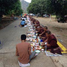 Pilgrims at Wat thumkrabork Thailand