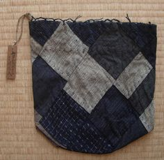 Komebukuro rice bag patchwork of squares от FabricLife на Etsy