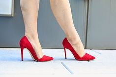 Red pumps and arches