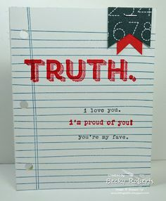 Inking Idaho: Words of Truth & Writing Notes Becky Roberts, You've Got Mail, Stampin Up Catalog, Homemade Cards, Letter Board, Cardmaking, Encouragement, Love You, Paper Crafts