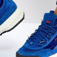Fila Disruptor Sneaker In Blue Velvet at asos.com