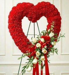 Um coração de flores para funeral!