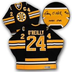01d380b8a Autograph Authentic Terry OReilly Boston Bruins Autographed Retro CCM  Hockey Jersey with PIM Note