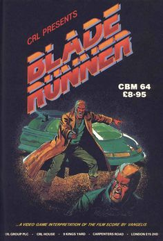 """Cover art for """"Blade Runner"""" (Commodore 64, 1995) 