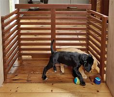 "Orvis Fold-Up Dog Gate. This Orvis gate has a plethora of configurations and foolproof installation. Support ""feet"" keep it safely in place without requiring commitment (a. holes in the wall). Freestanding Dog Gate, Diy Dog Gate, Cat Gate, Dog Barrier, Up Dog, Dog Kennel And Run, Dog Area, Pet Dogs, Pets"