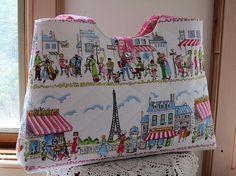 Handbag Purse Tote Vintage Button Paris
