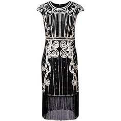 The Great Gatsby 1920s Costume Women's Dress Party Costume Masquerade Cocktail Dress Black Blue Silver Vintage Cosplay Polyster Sleeveless