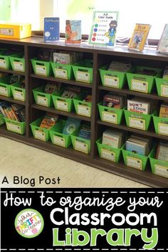 How to keep your classroom library organized.