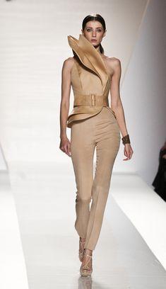 The Look: Fausto Sarli Brown Fashion, High Fashion, Womens Fashion, Cocktail Outfit, Fashion Illustration Dresses, Blouse Styles, Scarf Styles, Future Fashion, Textiles