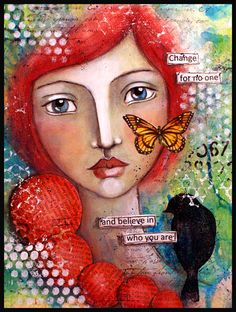 2014 Resolution No 6 - Create an art journal. ! - faces for inspiration . wonderful artist.