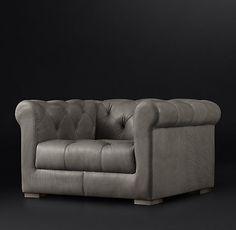 RH's Modena Chesterfield Leather Sofa