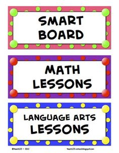 Management : Great ideas for clothes pins plus labels and some smart board lessons