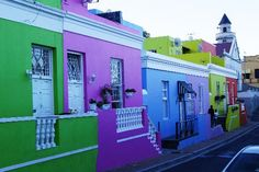 Colourful Houses, Cape Town, Africa. (Gordon S, May 2012)