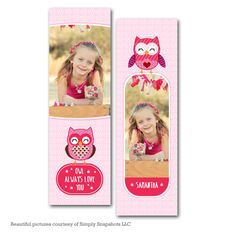 Owl Always Love You Bookmark Template Valentines Day Card Templates, Bookmark Template, Owl Always Love You, Photoshop Elements, Patience, Bookmarks, Beautiful Pictures, Messages, Cards