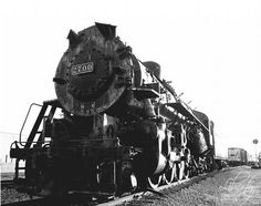 black and white train locomotive 8x10 documentary art photo, The 2700