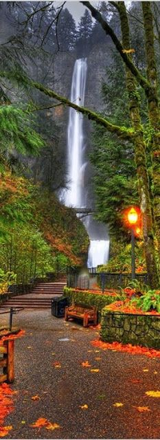 Multnomah Falls, Oregon, USA 30 minutes from Portland One of the largest in the US