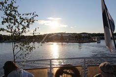 Cruise boat leaving the harbour of Kuopio Cruise Boat, Finland, Scenery, Leaves, Celestial, Explore, Sunset, Outdoor, Outdoors