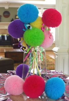Tulle Puff  Magic Wands-Flower Girl Accessory-Party Pack of 10 -Mix and Match Your Colors