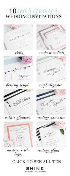 Looking for the perfect wedding invitation? We complied a list of our Top 10 most popular wedding invitations! | Shine Wedding Invitations