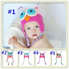 Children accessories wholesale Handmade Children Animal model OWL hats Newborn Photography Props 10pcs/lot XED-064