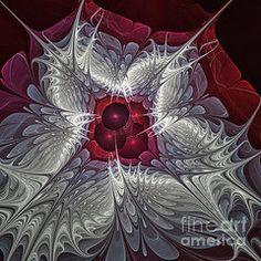 Fractal Art Art - Festive Star  by Karin Kuhlmann