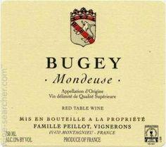 Famille Peillot Bugey Mondeuse, Savoie, France label