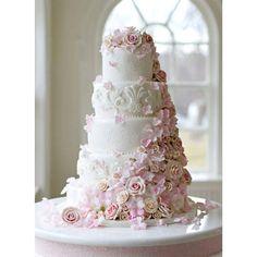 Big Wedding Cakes, Square Wedding Cakes, Floral Wedding Cakes, Elegant Wedding Cakes, Beautiful Wedding Cakes, Wedding Cake Designs, Wedding Cake Toppers, Blush Wedding Cakes, Wedding Cake Lace
