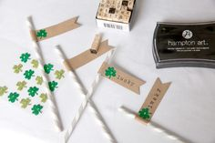 Lucky-St.-Pat-Straw-Flags...how to...