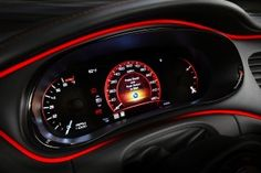 The TFT can be reconfigured to display color graphics like a analog speedometer. Gauge Cluster Shown