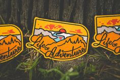 """Life of Adventure - 3.5"""" Embroidered Patch"""