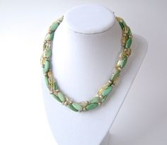 Turquoise Necklace Gemstone Jewelry Silver Citrine by MariesGems, $35.00