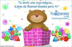 Osito en caja sorpresa - Osos amistosos, enviar tarjeta, tarjetas postales virtuales - TuParada.com