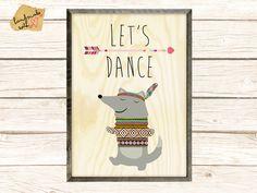 Let's dance Poster von VintagePaperGoods - GreenNest auf DaWanda.com