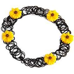 Yellow Flower Retro Elastic Tattoo Necklace. -- Visit the image link more details. (This is an affiliate link) #HammeringPoundingToys