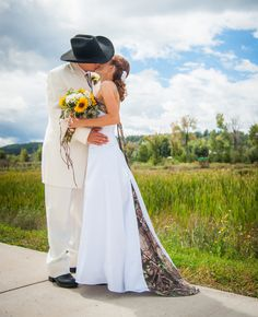 camo style wedding ideas | Would You Wear A Camo Wedding Dress? This Bride Did! - The Knot Blog
