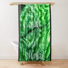 I´m Actually A Mermaid - Green Shower Curtain Green Shower Curtains, Mixed Media Photography, Artist Profile, Media Design, Sell Your Art, Art Drawings, Whimsical, Mermaid, Geek Stuff