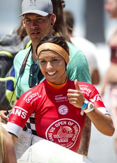 2f828c7d206901 Sally Fitzgibbons after a heat win.  VansUSOpen Surf Competition