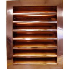 Louvered Gable Wall Vent (Rectangle)