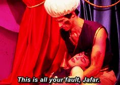 This is all your fault Jafar [gif]
