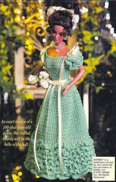 X745 Crochet PATTERN ONLY 1893 Young Lady's Evening Gown Barbie Fashion Doll Black Friday Etsy. $3.95, via Etsy.