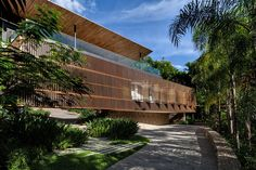 Image 1 of 25 from gallery of Casa Delta / Bernardes Arquitetura. Photograph by Ruy Teixeira Concept Architecture, Architecture Details, Beautiful Home Designs, Beautiful Homes, Facade Design, House Design, Swimming Pool Parts, Brazil Area, Arch House
