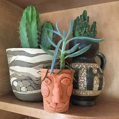 Air dry clay came make such a nifty flower pot. So much personality. We're loving it!