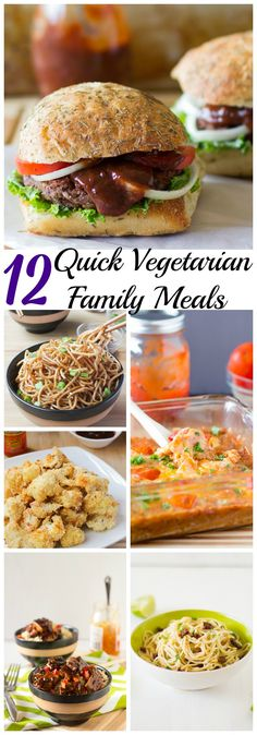 Being a vegetarian, or wanting to serve a Meatless Monday dish for your family can be difficult sometimes. I love these 12 Quick Vegetarian Family Meals that feel balanced, rounded and also taste delicious! #vegetarian #vegan #Familymeals #quickmeals